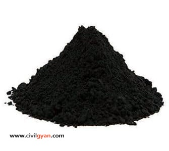 Activated carbon powder used as admixture