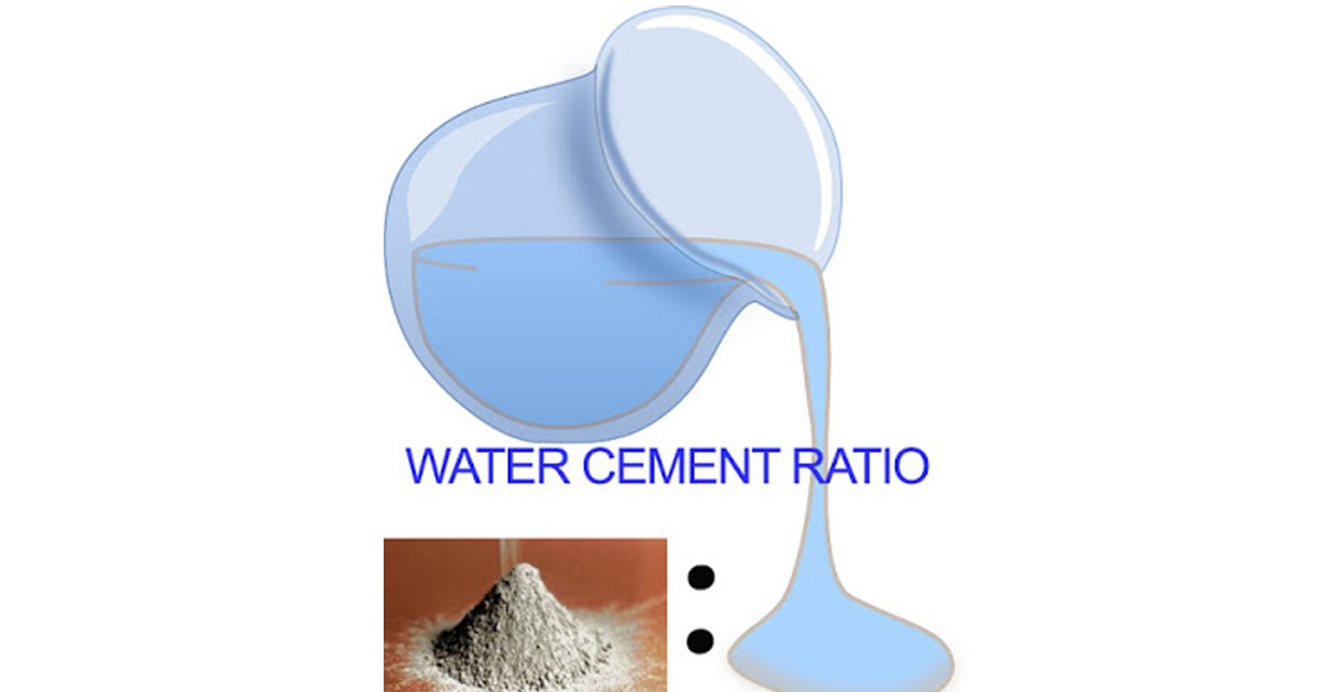 water cement ratio of concrete