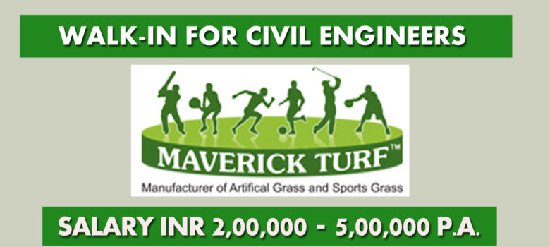 Walk-in for civil site engineer at maverick turf corporation