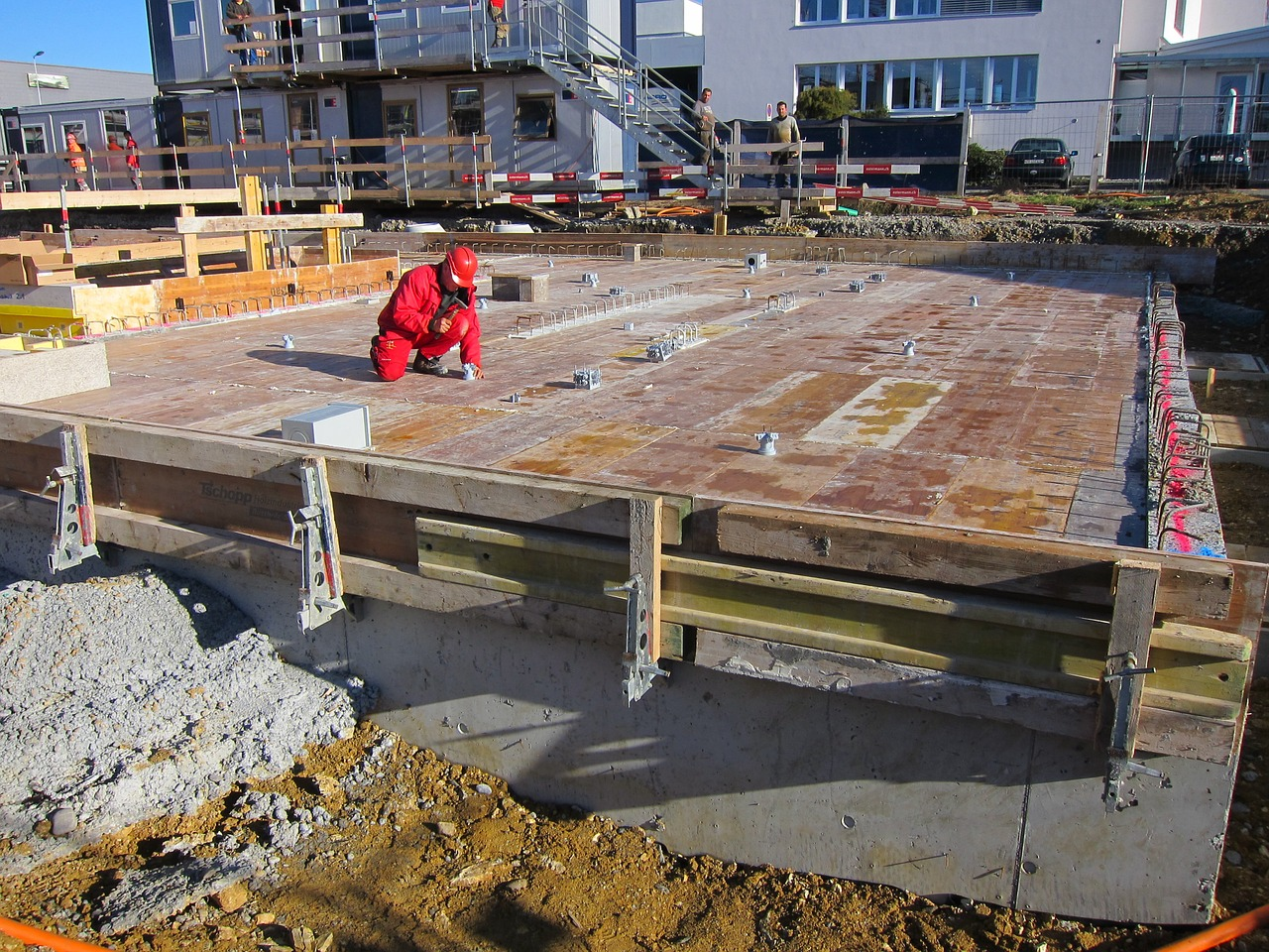 Preparation of shuttering for slab construction