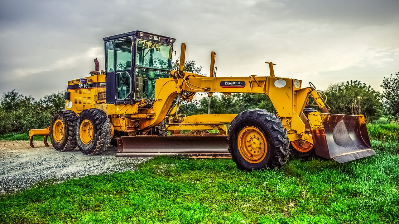 Motor Grader a type of heavy construction equipment